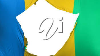 Cracked Saint Vincent and Grenadines flag, white background, 3d rendering