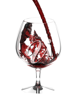 Royalty Free Photo of a Glass of Red Wine