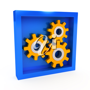 Royalty Free Clipart Image of Gears