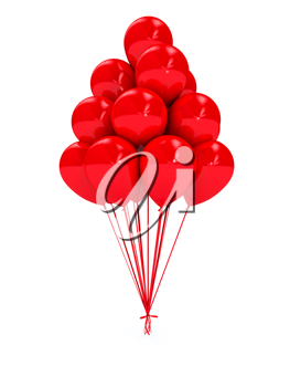 Royalty Free Clipart Image of Red Balloons