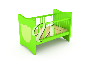 Royalty Free Clipart Image of a Crib