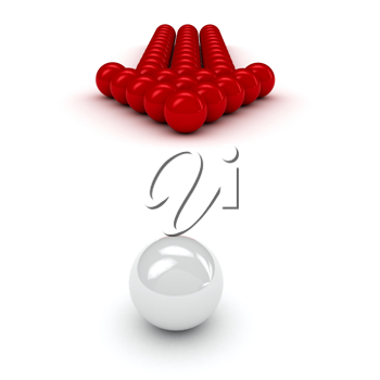 Royalty Free Clipart Image of a Management Concept