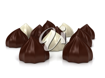 Royalty Free Clipart Image of Chocolates