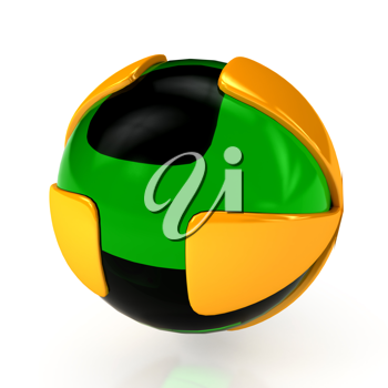 Royalty Free Clipart Image of an Abstract Sphere