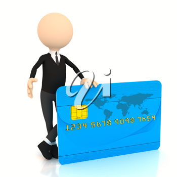 Royalty Free Clipart Image of a Businessman With a Credit Card