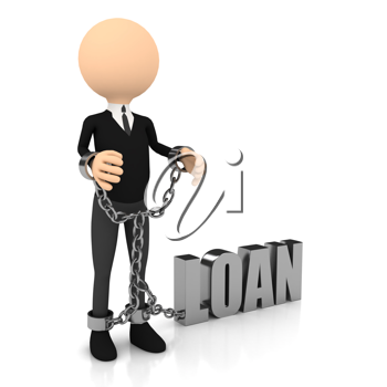 Royalty Free Clipart Image of a Handcuffed Man