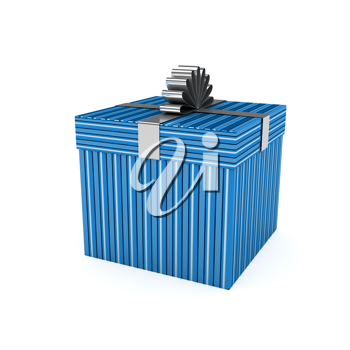 Royalty Free Clipart Image of a Gift Box