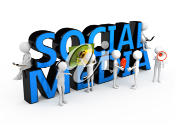 Royalty Free Clipart Image of a Social Media Concept