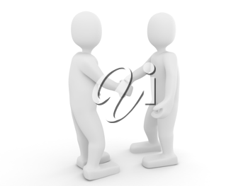 Royalty Free Clipart Image of Two People Shaking Hands