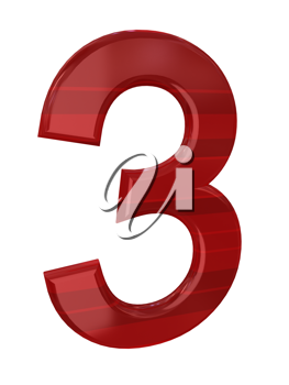 Royalty Free Clipart Image of a Red Number
