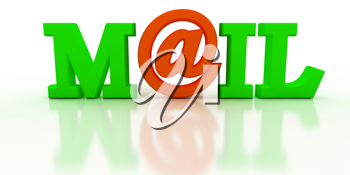 Royalty Free Clipart Image of the Word Mail