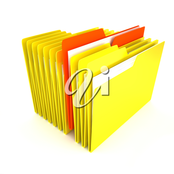 Royalty Free Clipart Image of a Bunch of Folders
