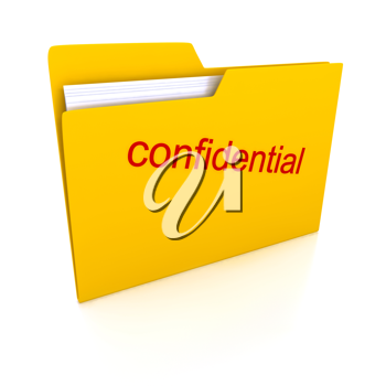 Royalty Free Clipart Image of a Confidential Folder