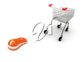 Royalty Free Clipart Image of an Online Shopping Concept