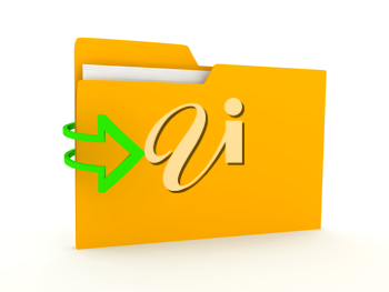 Royalty Free Clipart Image of a Folder