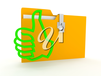 Royalty Free Clipart Image of a Locked Folder