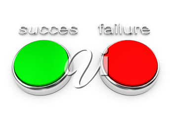 Royalty Free Clipart Image of Red and Green Buttons