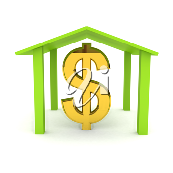 Royalty Free Clipart Image of a Dollar Sign
