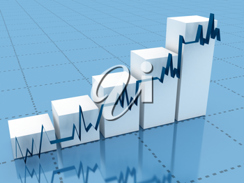 Royalty Free Clipart Image of a Graph