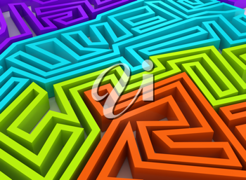Royalty Free Clipart Image of a Maze