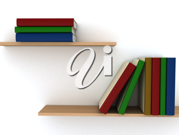 Royalty Free Clipart Image of Bookshelves