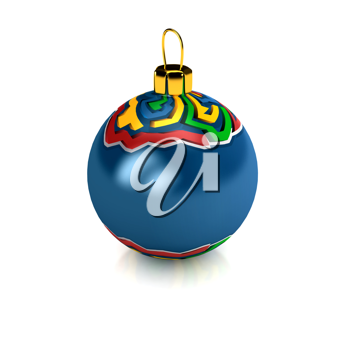 Royalty Free Clipart Image of a Christmas Ornament