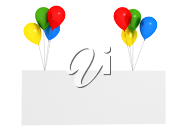 Royalty Free Clipart Image of a Bunch of Balloons
