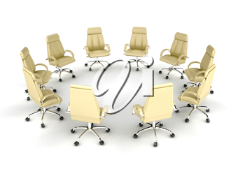 Royalty Free Clipart Image of a Group of Chairs