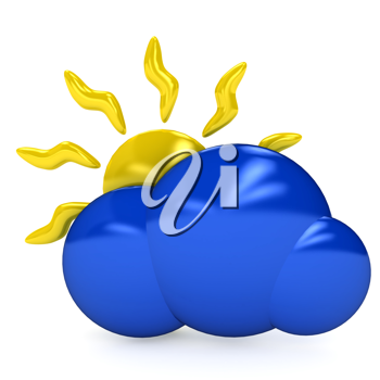 Royalty Free Clipart Image of a Weather Symbol