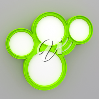 3d abstract glossy speech bubble in perspective with place for text background