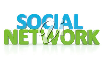 Word SOCIAL NETWORK. Computer generated