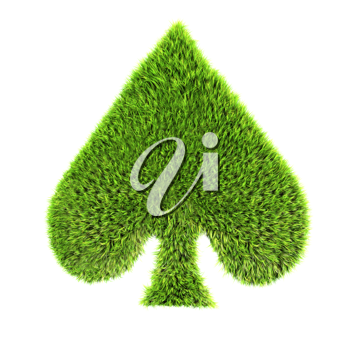 Royalty Free Clipart Image of a Grass Spade Symbol