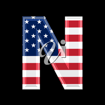 Royalty Free Clipart Image of an American Flag 'N'