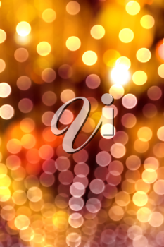 Royalty Free Clipart Image of a Blurred Lights