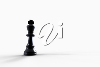 Royalty Free Clipart Image of a King Chess Piece