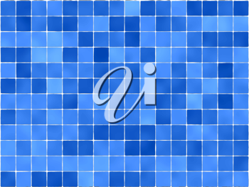 Royalty Free Clipart Image of Blue Tiles