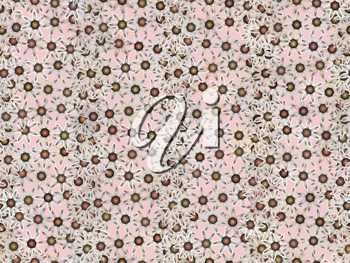 Royalty Free Clipart Image of a Seamless Floral Pattern