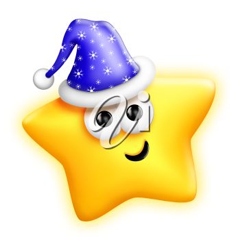Royalty Free Clipart Image of a Star in a Hat