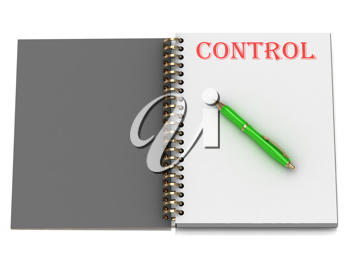 Royalty Free Clipart Image of a Book With the Word Control