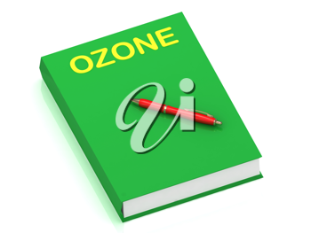 Royalty Free Clipart Image of a Book With the Word Ozone
