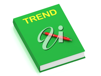 Royalty Free Clipart Image of a Book With the Word Trend