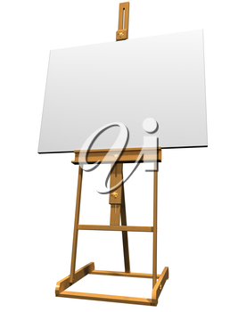 Royalty Free Clipart Image of an Easel