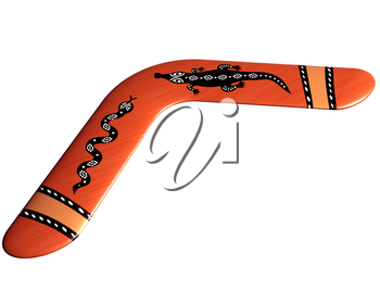 Royalty Free Clipart Image of a Boomerang