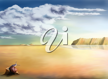 Royalty Free Clipart Image of a Background of Desert