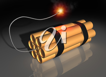 Royalty Free Clipart Image of Dynamite