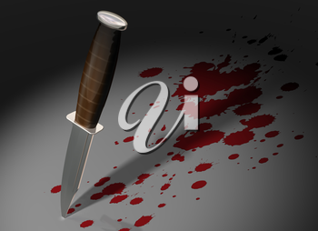 Royalty Free Clipart Image of a Knife