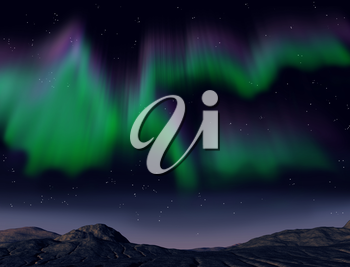 Royalty Free Clipart Image of Northern Lights