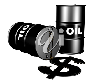 Royalty Free Clipart Image of Oil Drums