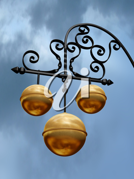 Royalty Free Clipart Image of a Pawnbroker Sign