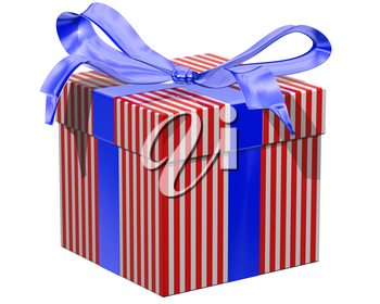 Royalty Free Clipart Image of a Gift Wrapped Present